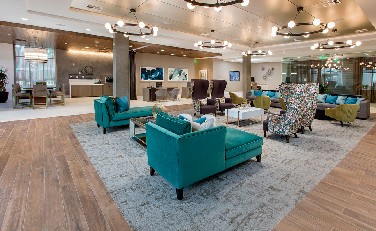 The Royce Apartments Irvine Leasing Lobby